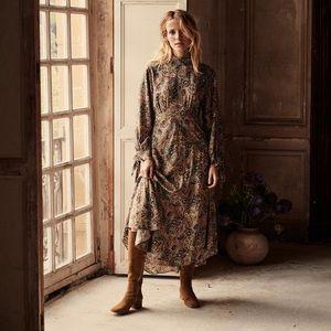 DÔEN doen | Alda Museo Paisley Print Silk Dress